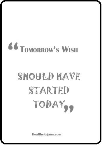 slogans on obesity prevention - Tomorrow's Wish: Should Have Started Today