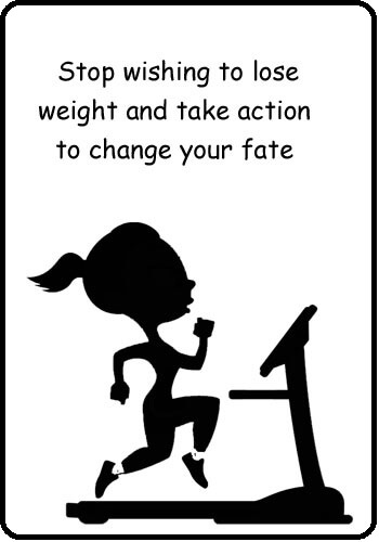weight loss motivational slogans- Stop wishing to lose weight and take action to change your fate