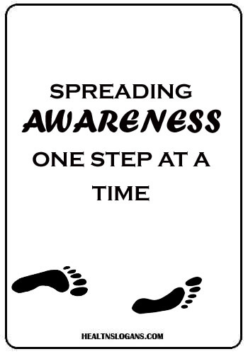 Walk Slogans - Spreading awareness, one step at a time