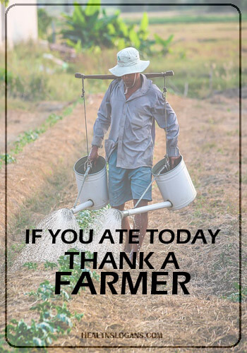 healthy food slogans - If you ate today, thank a farmer.