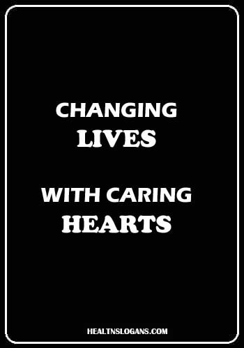 Pediatric Slogans - Changing lives with caring hearts