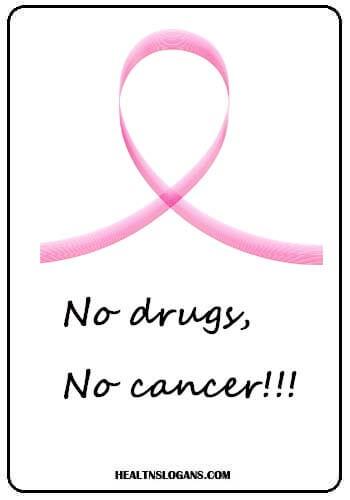No drugs, No cancer -  No drugs, No cancer!!!