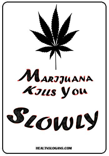 Anti Marijuana Slogans - Marijuana kills you slowly