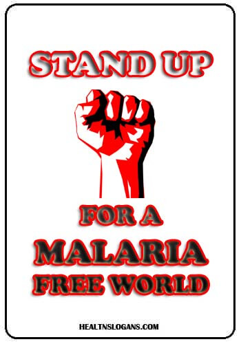 slogans on mosquitoes - Stand up for a Malaria free world