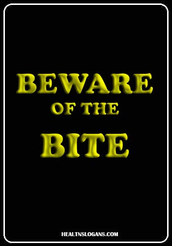 slogans on mosquitoes - Beware of the bite