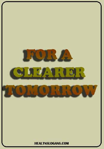 eye donation slogans - For A Clearer Tomorrow
