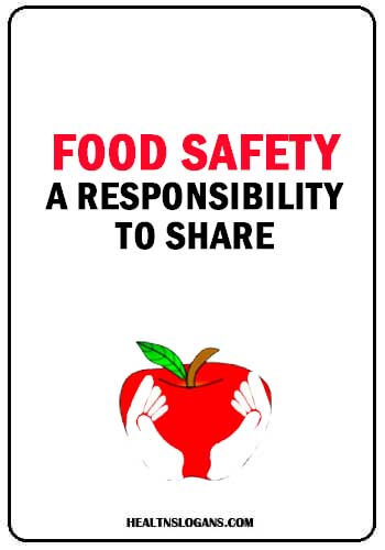 food safety posters - Food safety, a responsibility to share
