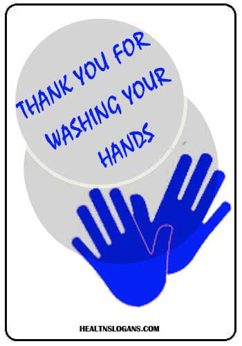 washing hands - Thank you for washing your hands