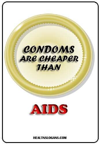 std prevention slogans - Condoms are cheaper than aids