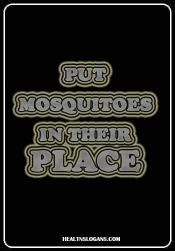 Mosquito Slogan - Put mosquitoes in their place