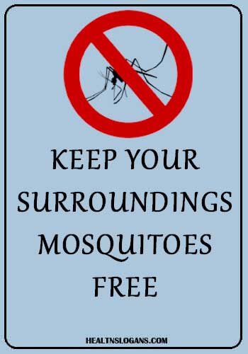 Mosquito Slogan - Keep Your Surroundings Mosquitoes Free